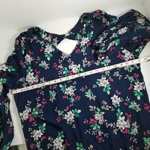 Dresses - New Floral Print Open Back Flowy Summer Dress XL